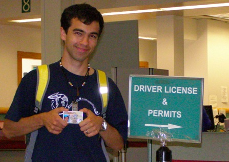 ivan with new driver's license
